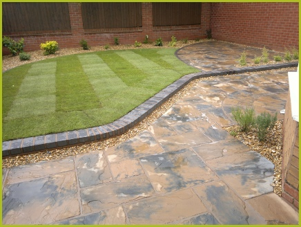 Rear Garden Completed By Redditch Based Landscape Gardeners : Advanscape : Landscaping Redditch Studley Bromsgrove Alvechurch